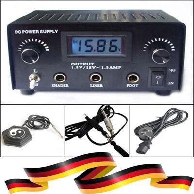 Digital LCD Tattoo Netzteil Power Supply Netzgerät Stromversorgung schwarz DE Digitale Tattoo Power Supply