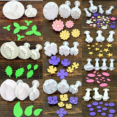 Flower Leaf Geometry Shape Plunger Cookie Cutter Biscuit Cake Decorating Mould - Flower Shapes