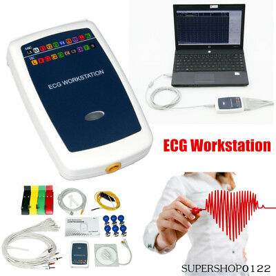 Ecg Workstation Systemportable Handheld 12-lead Resting Recorder Pc Software