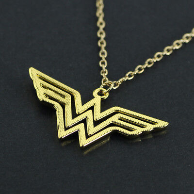 jewelry DC Superhero Wonder Woman Necklace Golden Super Hero LOGO Accessories