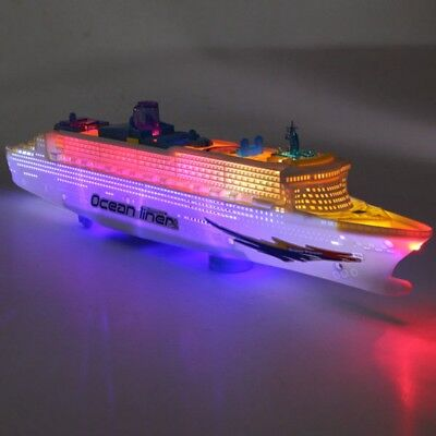 OCEAN LINER CRUISE SHIP BOAT ELECTRIC TOY FLASH LED LIGHT SOUND KID CHILD GIFT