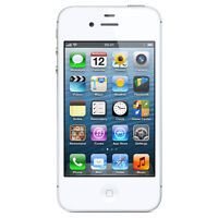 iphone 4S Blanc/White, 16 GB, Rogers/Chatr = 180$