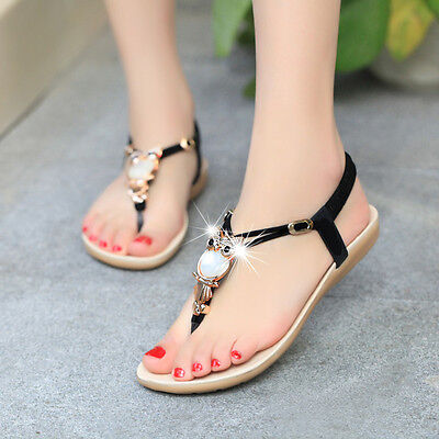 - Bohemia Womens Summer Bohemia Slippers Flip Flops Flat Sandals Beach Thong Shoes