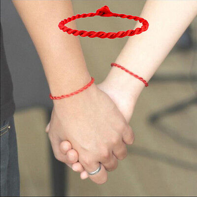 2pcs Simple Unisex Red Kabbalah String Lucky Handmade Bracelet Adjustable for sale  China