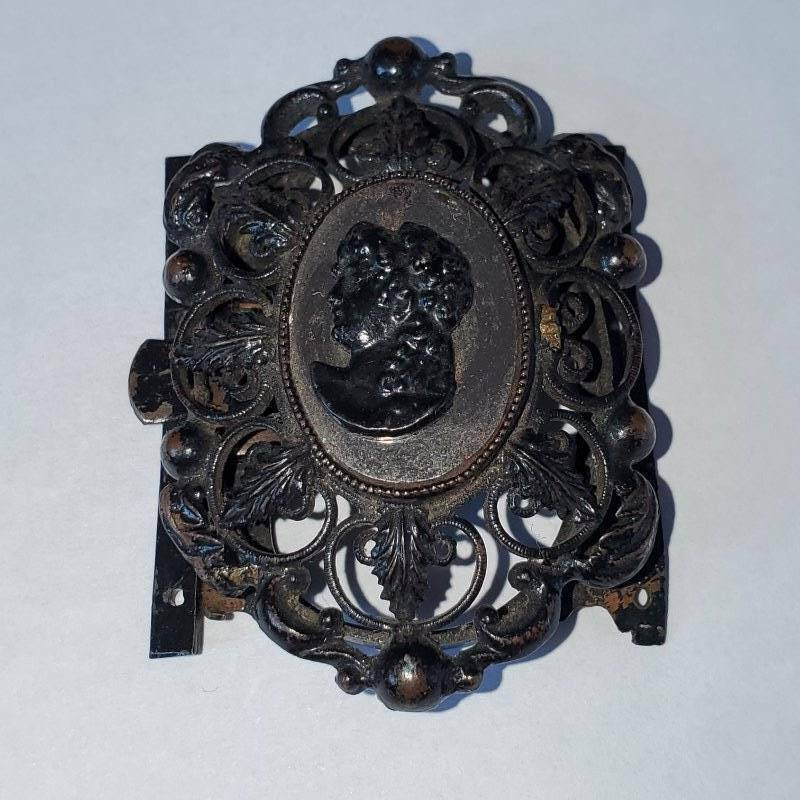 Antique Victorian Berlin Iron Cameo Clasp Finding