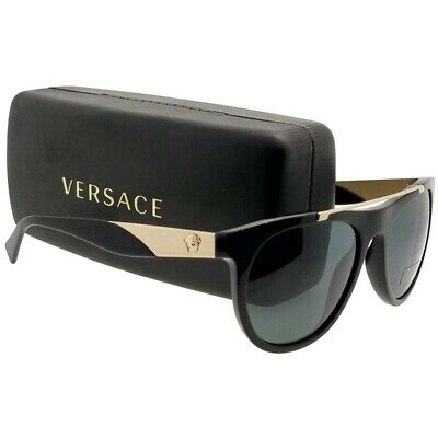 VERSACE VE4347GB1-87-56  Sunglasses Size 56mm 145mm 19mm Grey Brand New