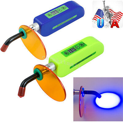 Usa Bluegreen Dental Wireless Cordless Led Lighting Curing Light Lamp 1500mw