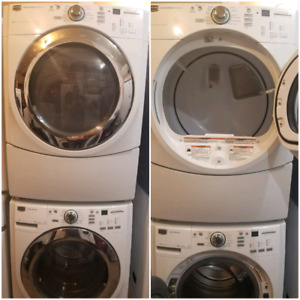 Maytag series stackable washer and steam dryer