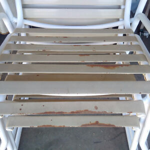 Set of 4 Outdoor Stacking Chairs Kitchener / Waterloo Kitchener Area image 1
