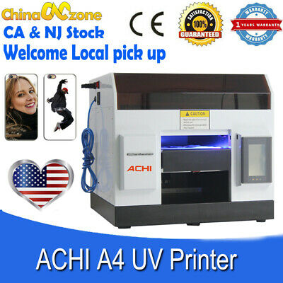 Achi A4 Uv Printer 6 Color L800 Head For Phone Case Metal Glass Flat Embossed