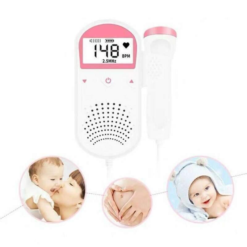 Baby Fetal Doppler Built-in 2.5MHz Probe USA