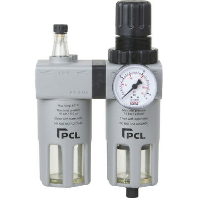 "PCL Professional Quality Air Tools 1/2"" Filter Regulator Lubricator - ATCFRL12"