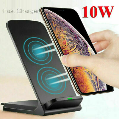 10W Fast Wireless Charger Stand Qi Charging Dock for iPhone 8 X XS 11/11 Pro Max