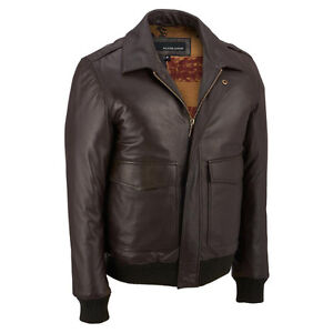 Wilsons Leather Mens Bomber Lamb Jacket W/ Flag Print West Island Greater Montréal image 1