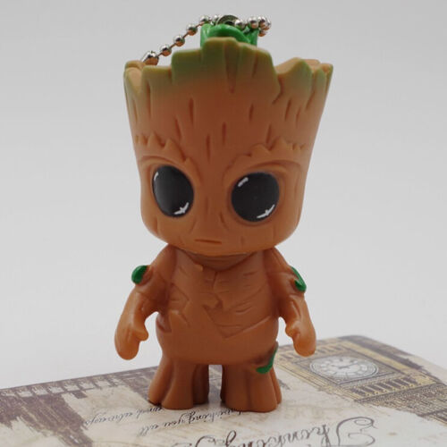 """KeyChain Guardians of the Galaxy Vol.2 Baby Groot 3"""" Figure Statue Gift Toy New"""