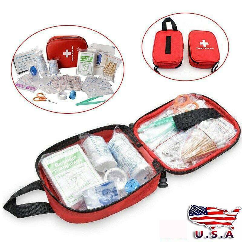 NEW 100PCS FIRST AID KIT ALL-PURPOSE PREMIUM MEDICAL SUPPLIES AND EMERGENCY BAG US