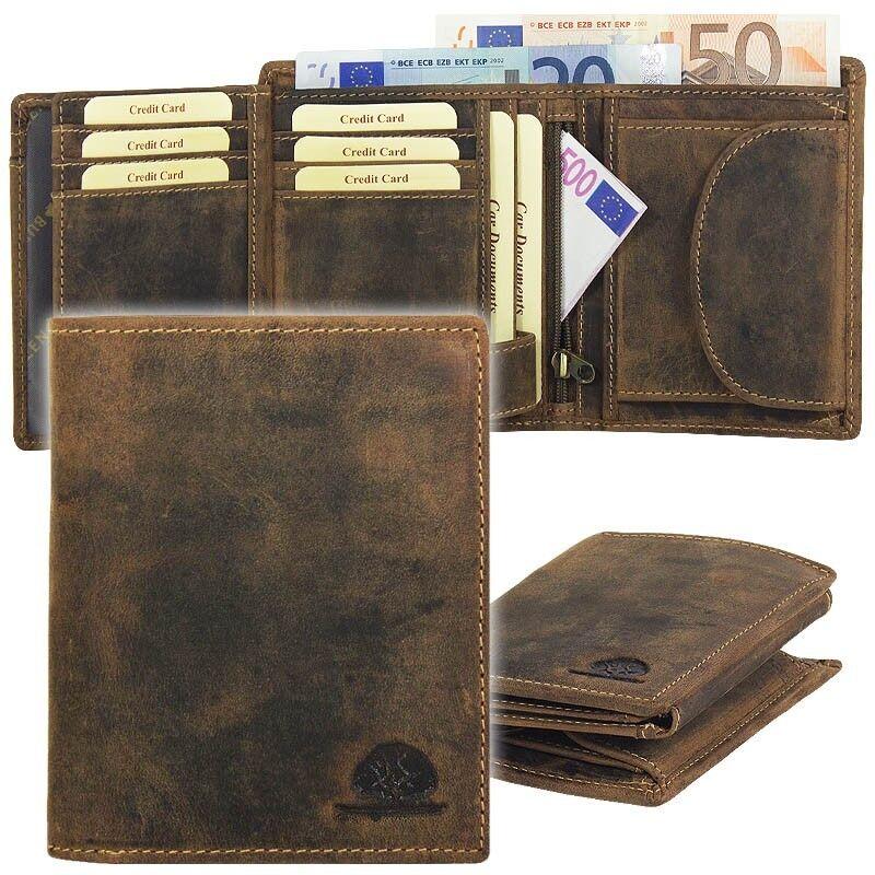 Greenburry Vintage Herren Leder Geldbörse Portemonnaie Geldbeutel braun 1796A-25