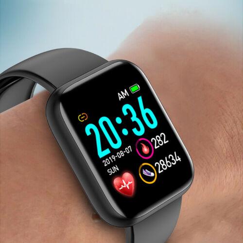 Herrn Smartwatch Bluetooth Fitness Armband Wasserdicht IP67 Sport Uhr Tracker