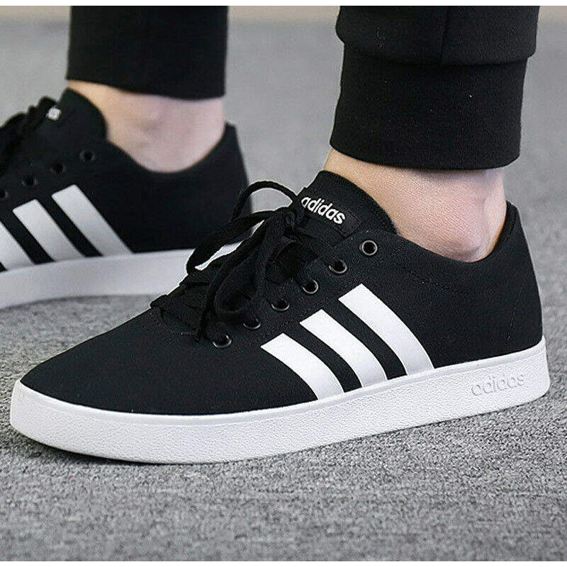 Adidas Men Sneakers Shoes Fashion Essentials Trainers Black Easy ...