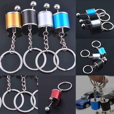 Creative Manual Transmission Gear Box Shifter Key Chain Metal Key Ring Toy Gift.