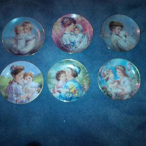 Mother/daughter collectible plates