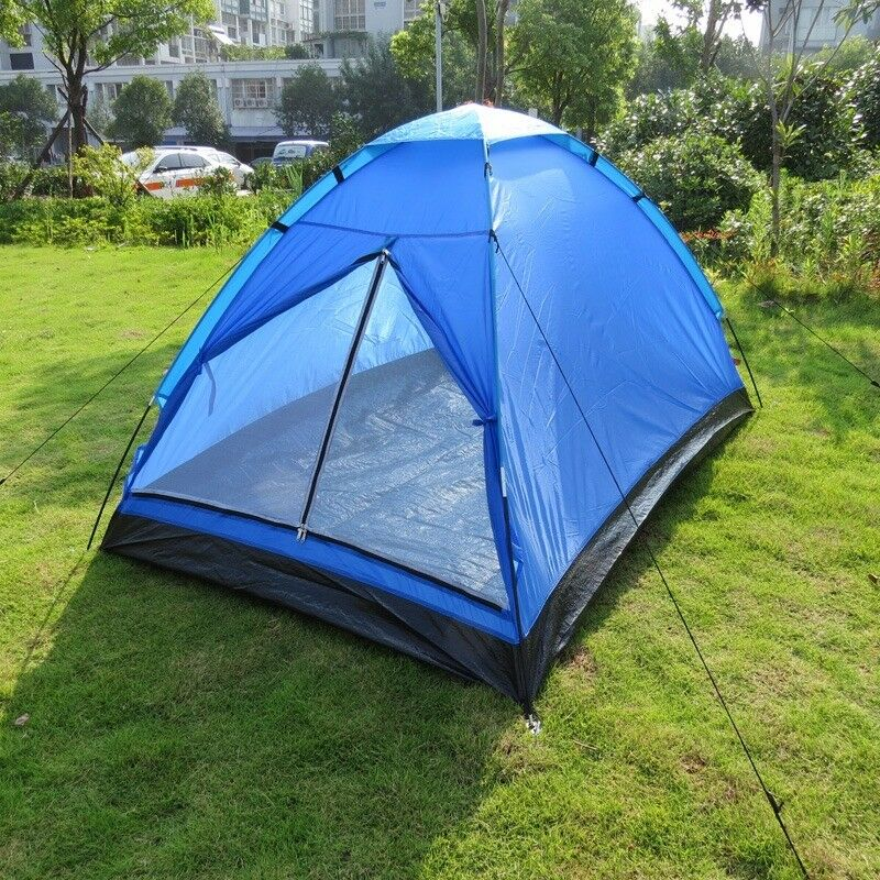 UK 2 Man Person Berth Dome Camping Tent Waterproof Lightweight Festival Outdoor