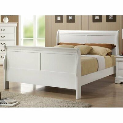 BOWERY HILL Queen Sleigh Bed in White