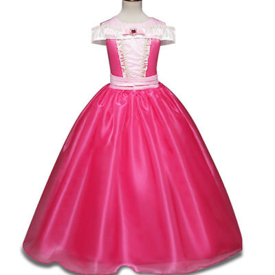 Girls Kids Sleeping Beauty Princess Aurora Party Costume Dress](Sleeping Beauty Princess Aurora)