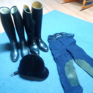 various riding equipment