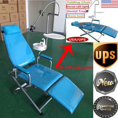Portable Mobile Folding Dental Chair Unit Treatment Chair Cuspidor Tray Light