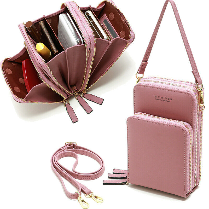 Fashion Women Small Cross-body Cell Phone Wallet Case Shoulder Bag Pouch Handbag Clothing, Shoes & Accessories
