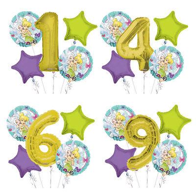 Tinker Bell 1-9 Birthday Balloon Bouquet 5 pcs Girls