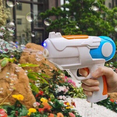 Bubble Gun Seifenblasenpistole LED/Sound Seifenblasenmaschine Pistole