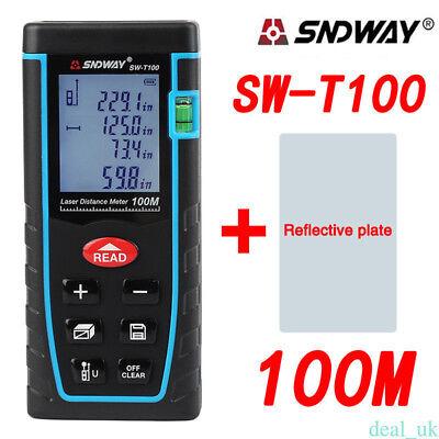 Sndway Sw-t100 Hand-held Laser Distance Meter Measuring Range 100m328ft Top Re5