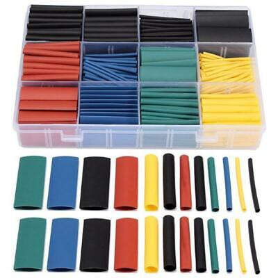 500 Piece Heat Shrink Wrap Assorted Size Diameters Polyolefin Tube Tubing Sleeve