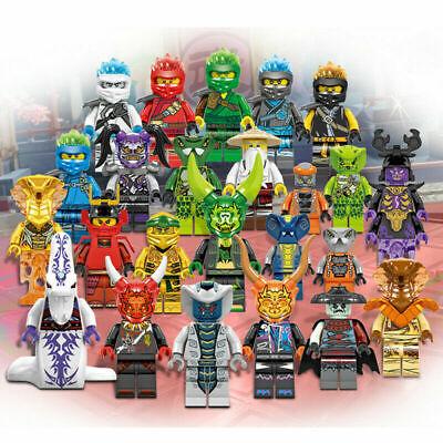 New 24 Pcs Ninjago Mini Figures Kai Jay Sensei Wu Master Building Blocks Toys uk