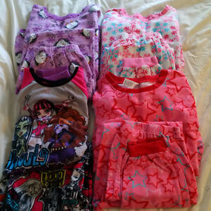 LOT OF GIRLS SIZE 14 PJS; 4 PAIR IN TOTAL