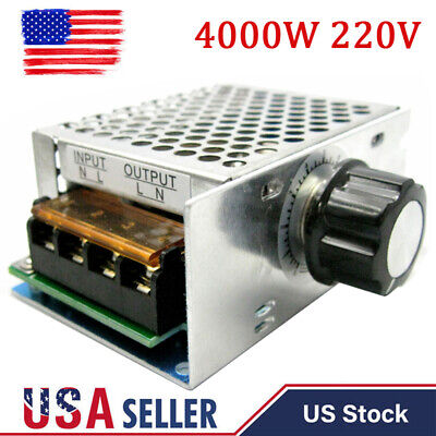 4000w 220v Ac Scr Motor Speed Controller Module Voltage Regulator Dimmer Oz