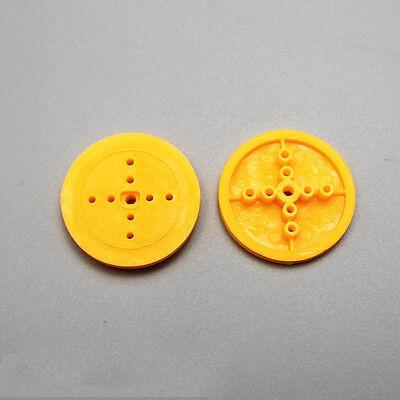 10pcs 36mm Pulley Wheel Plastic Car Wheel Eccentric Wheel For Diy Toy Accessorie