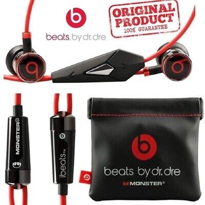 HTC Genuine Monster Beats By Dr Dre iBeats Metal in Ear Headphones Earphones BLK