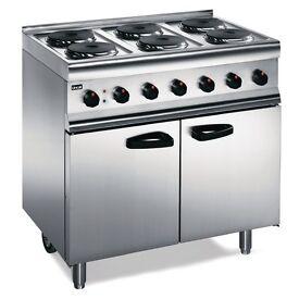 Commerical lpg 6 hob cooker