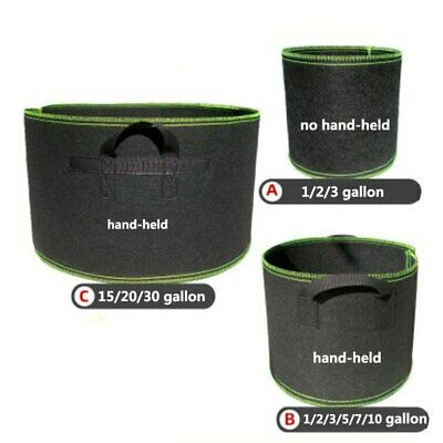 1-20 gallon Tree Pots plant Grow Bags seeding growing garden tools fabric pot ()