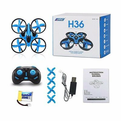 JJRC 6Axis Gyro Headless Method RC Quadcopter Flying Toy Drone Blue Crash Proof