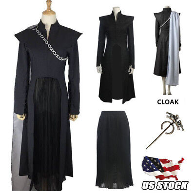 Game Of Thrones Season 7 Costume Daenerys Targaryen Cosplay Cloak Dress Skirt Us