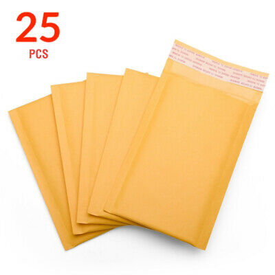Durable Padded Envelopes 6x10 Kraft Bubble Wrap Mailers Small Poly Bags Yellow