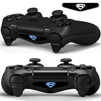 PS4/PS4 Pro/PS4 Slim Controller LED Light Bar Cover Decal Skin Sticker SUPERMAN (Ps4 Controller Light Bar Superman)