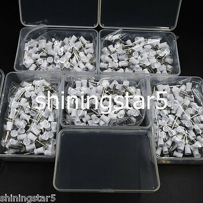 500 Pcs Dental Prophy Paste Cup Latch Polishing Polisher Rubber Brush Bowl White