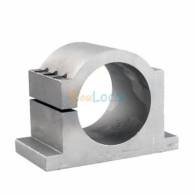 New 80mm Diameter Spindle Motor Cast Aluminum Mount Bracket Clamp For Cnc Router