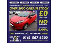 Ford Fiesta Edge1.2 Manual Petrol GOOD/BAD CREDIT CAR FINANCE