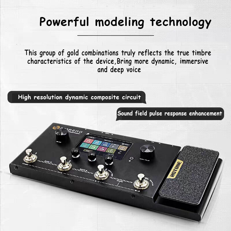Hotone Ampero Guitar Bass Amp Multi Language Effects Expression Pedal OTG USB